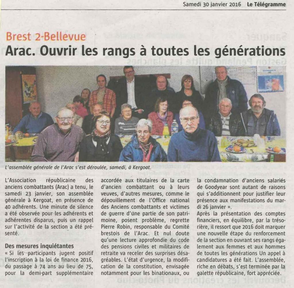 article ARAC - TEL 300116