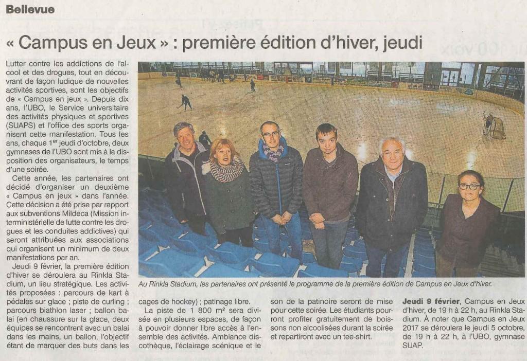 Article paru dans le Ouest-France le 06/02/17