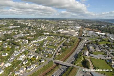 Vue aérienne de Plougastel-Daoulas