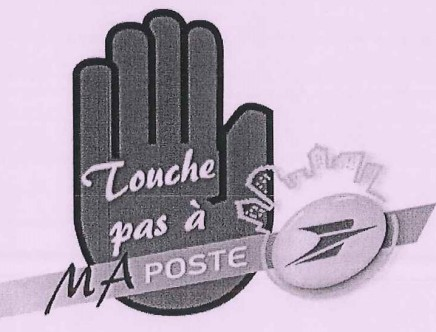 Tract Mardi noir à la Poste logo